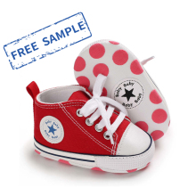 Designer wholesale Canvas shoes first Walker kids boy and girl  crib Baby shoes
