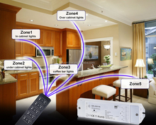 5 Zone 10 zones Wireless LED Dimmer Control kitchen and bathroom