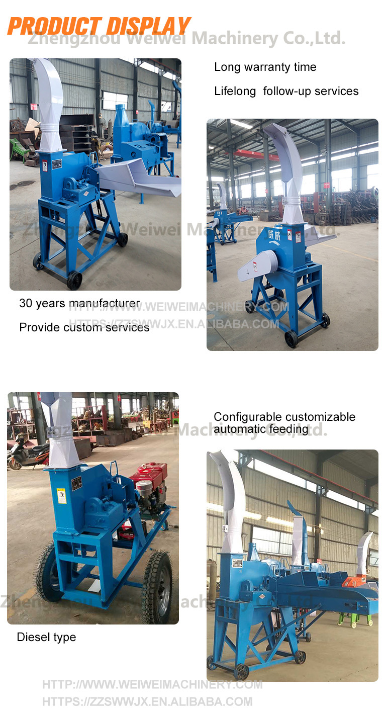 Weiwei silage making vegetable chopper machine