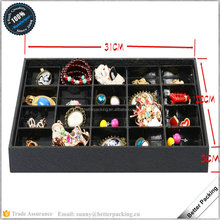 20 Slots Leather Paper Wooden Blister Jewelry Tray