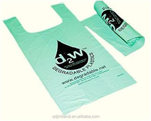Eco-friendly non toxic high quality LDPE biodegradable plastic carry bags manufacture