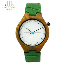 New Arrival Wood Wrist Watch with Genuine Leather Strap Luxury Wristwatch for Men and Women