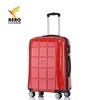 4 wheel red shell cabin trolley travel abs suitcase carry on hard case luggage