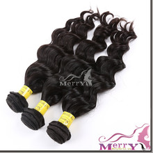 Perfect lady smoothest natural wavy virgin remy weave kbl peruvian hair
