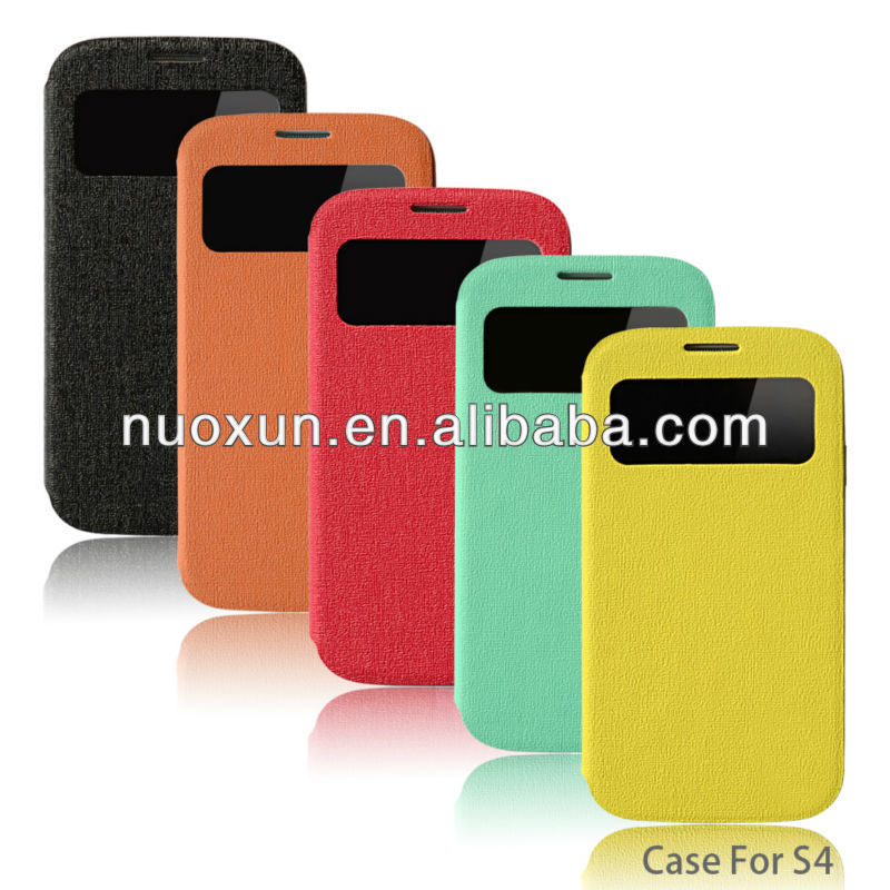 New design book style leather phone case for samsung galaxy s4