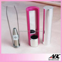 Pink Color Led Lighted Tweezer With Mirror