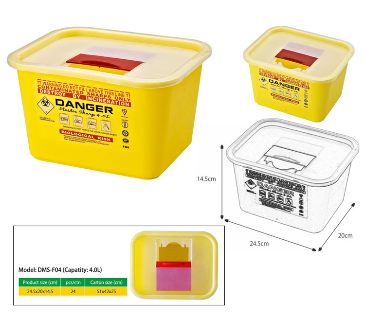 un3291 medical sharp container for hospital/clinical/Labs sharps wastes collection