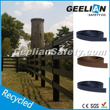 108mm wide high tension steel wire strengthened flexible plastic rail horse paddock fence