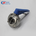 Stainless Steel 304 316 316L Welding Threaded Screwed Flanged Clamp End Sanitary Butterfly Valve