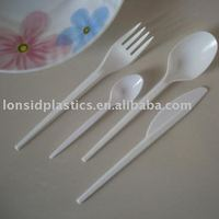 Polystyrene White Light Weight Disposable Tableware, Disposable Cutlery Set