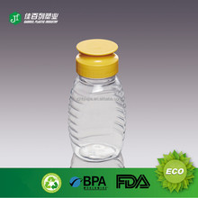 Silicone cap plastic squeeze bottle with flip top cap Food beverage Industrial Use and Easy Open Sealing Type pet honey bottle