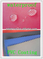 waterproof fabric/WR poly oxford cloth with pvc backing