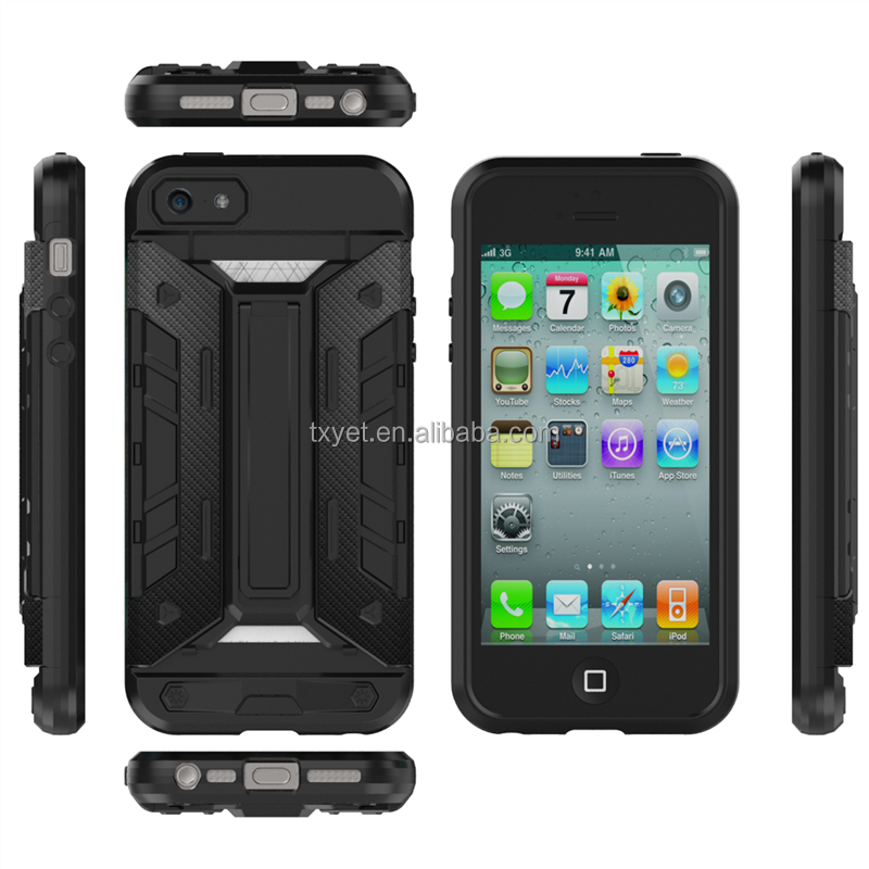 2 in 1 phone case PC TPU bumper mobile phone protective case for iphone 5