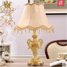 Embossed Ivory Resin Decorative Table Lamp