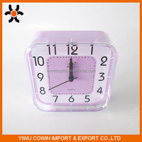 Acrylic and PP digital table clock Clean square shape alarm clock