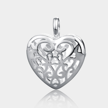 Heart shaped 925 sterling silver Filigree jewelry diffuser locket