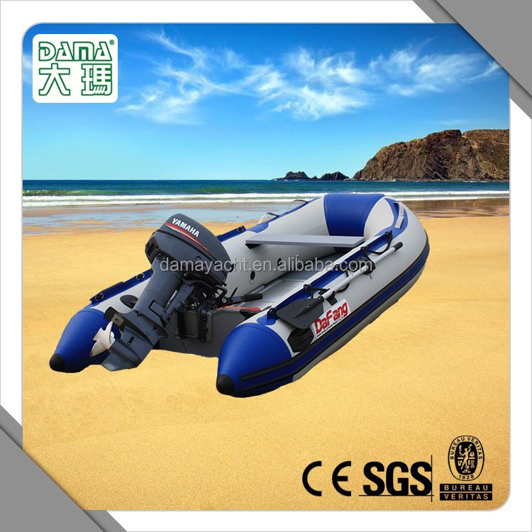 stand up PVC Hull Material rigid speed boat