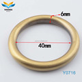 Elegant appearance 2017 new product zinc alloy metal o ring for bag accessories