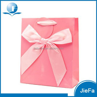 Provide Fancy Design Customized Pink Gift Bags