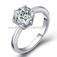 Special design cubic zircon ring fashionable rings with crystal noble wedding ring