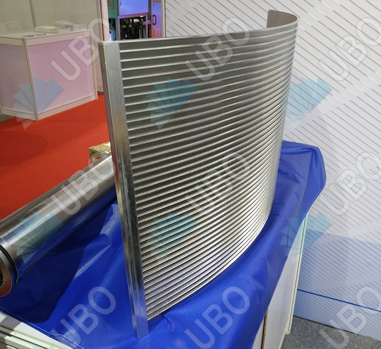 Wedge wire curve screen panel sieve bend plate for waste water treatment