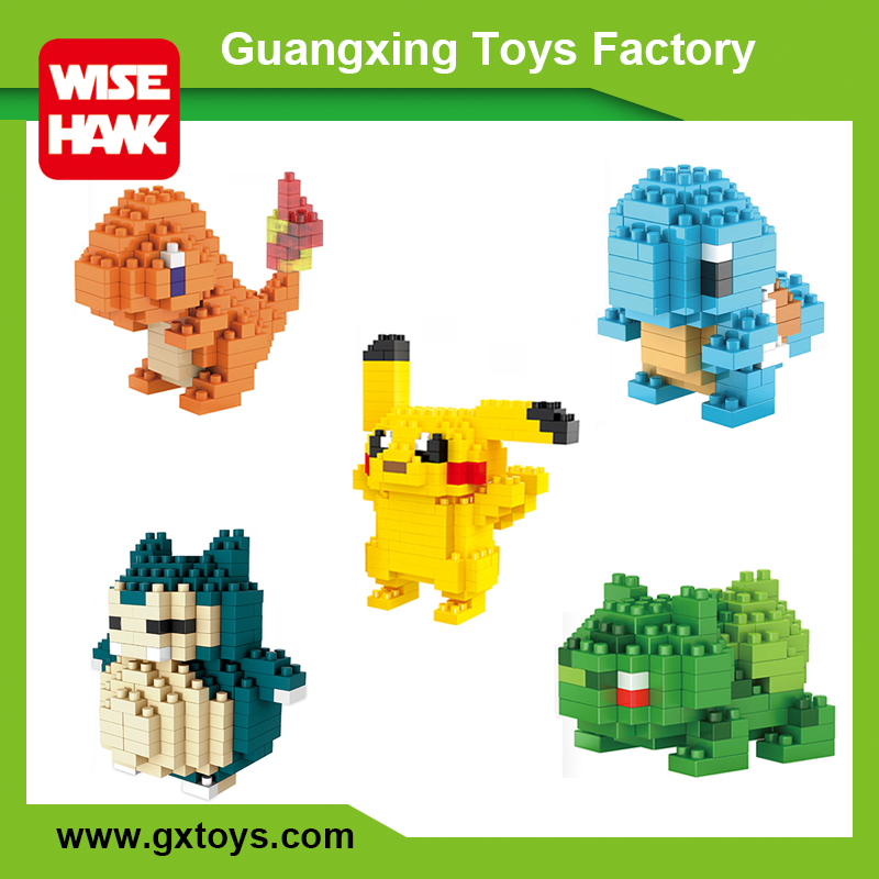 Hot selling plastic nano bricks 22 pokemon figures set toys lepin building block