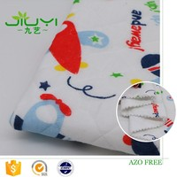 wholesale custom print plane jacquard cotton polyester scuba knit fabric organic baby
