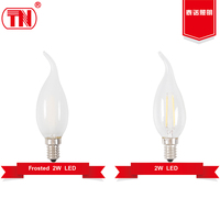 New type 200lm 300lm c35t led bulb 2w 3w filament led