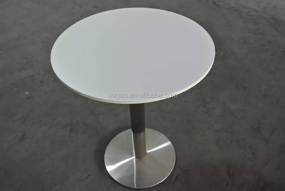 white HPL compact laminate folding aluminum table