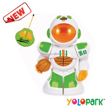 Intelligent toy 4ch plastic basketball rc robot