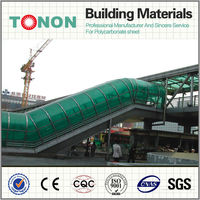 green polycarbonate for roof used roofing of entrance underground/crossing road tunnel