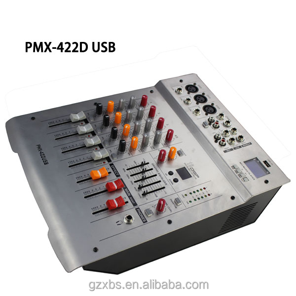4 channels audio dj mixer with USB / SD (PMX422D)