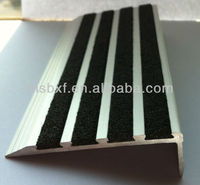 Anti Slip Aluminium Stair Nosing Step Edge Ramp Profile.