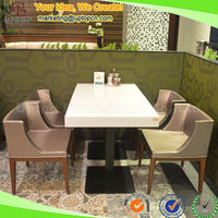 (SP-CS310) Chinese commercial furniture solid surface restaurant dining table