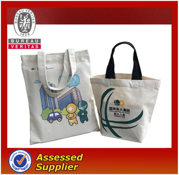 Promotional custom cotton canavas shopping bag with printing logo