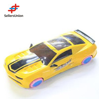 No.1 yiwu commission agent remote control electric toy car motors Good quality children yellow sports car with light 24.5*10*5CM