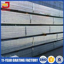 JH high quality galvanized steel bar grating weight