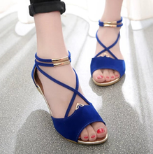 DL10061B 2017 new designs woman sandals shoes ladies simple flat sandals