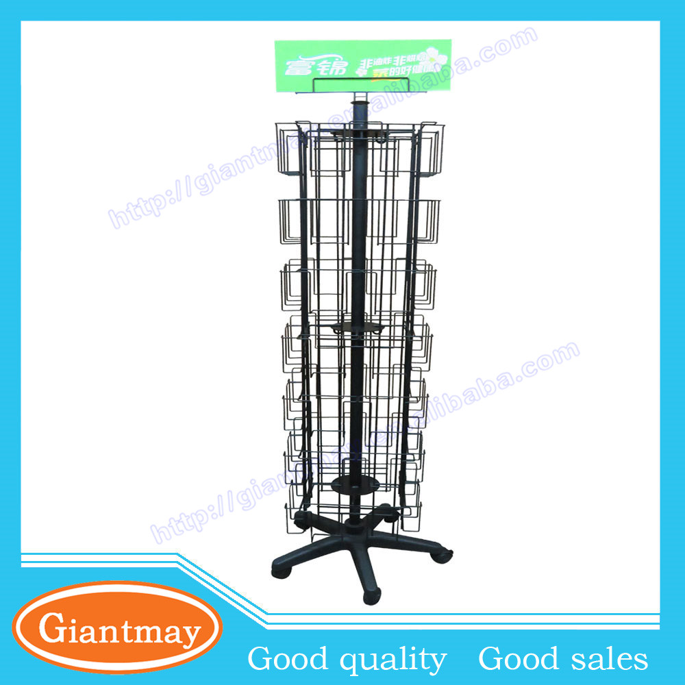Hot sale assorted metal store greeting card wholesale display racks