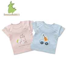 new 2018 Summer kids t-shirt bamboo fiber baby t-shirt