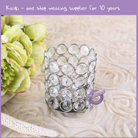 ZT00250 different types of small crystal acrylic bead candle holders