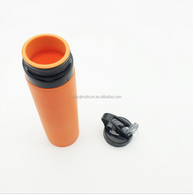 2017 New FDA Silicone Drinkware type Sport Foldable Water Bottle /Portable Travel Compressed Silicone Water Bottle