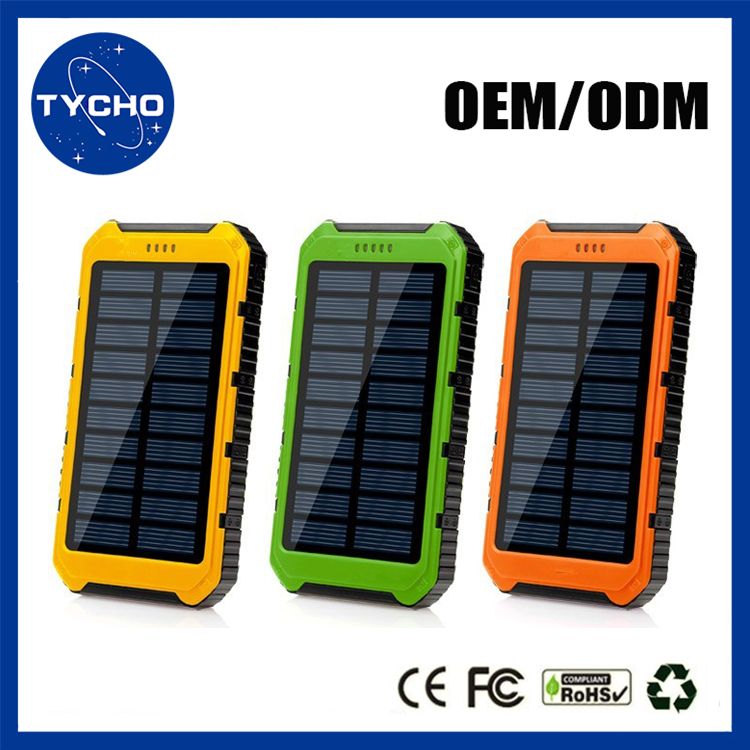 Universal Backup External Battery Mobile Solar Charger 20000mAh Smart Power Bank Charge For Mobile Phone Charger