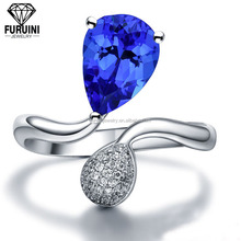 FBCRS124 new exquisite metal jewelry wholesale engagement rings blue romantic fashion style
