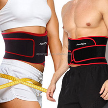 Waist Trimmer Belt Support Brace, Adjustable Lower Back Lumbar Support Straps - Weight Loss Ab Belt, Breathable Stomach Wrap