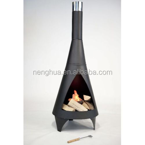 New Steel Wood Outdoor Fireplace Chimney Chimnea Garden Fire Pits Heaters