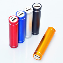 Hot sale portable lipstick style power bank 2600mah for promotion gift