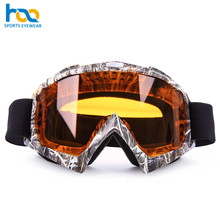 Custom safety weaving or printing logo eye protector crash proof motocross motorcycle riding glasses