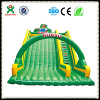 Superb Quality soft playground outdoor/bouncing castles for sale/water slide inflatable/QX-116J