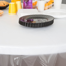 disposable PE clear plastic round tablecloth for wedding